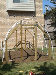 hoophouse front frame